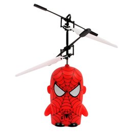 Wholesale The Avengers Minions Induction aircraft Mini Electronic Toys RC Flying Helicopter with lights best gift for kids