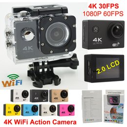 Wholesale Original F60 WiFi Action camera waterproof Gopro style Ultra HD K Sport Camera LCD m Diving Camcorder Helmet Cam Car Recorder
