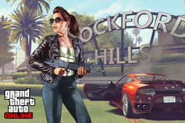 Wholesale Grand Theft Auto V Art Silk Print Fabric Poster Game Hot GTA Images For Wall Decoration X60 CM