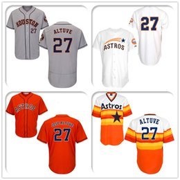 Wholesale Complete Logo name Stitched Jose Altuve Houston Astros National League Cool Baseball Jersey Jerseys Sport Limited time promotion