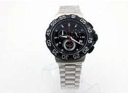 Wholesale The best gift hot style Quartz Men s Wristwatch Anolog Black Face Stainless Steel Band Aouaracef AG Meters Male Watch