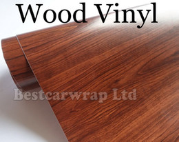 WoodGrain Vinyl - Car wrap Vinyl Brown wood grain Film With Air Release Car stickers For Vehicle graphic covers Size:1.52*20M Roll