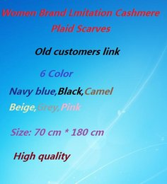 Wholesale Winter Scarf Women Plaid Scarf Shawls Brand Scarves For Women Thick Imitation cashmere Neck Warmer