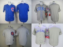 Wholesale Cheap MLB Cubs jerseys baseball Jerseys Chicago embroidery Blank NO NUMBER NO NAME blue grey white striped freeshipping