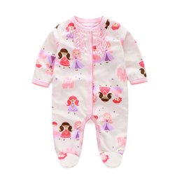 Fleece Princess Baby Girls Rompers Pajamas Newborn Footcover Long Romper Baby Clothes Outfits Body Warmer Hot Sale 0-12month
