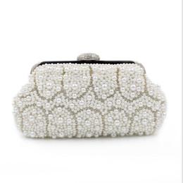 Wholesale 2016 European and American trade pearl diamond evening bag high grade hand beaded evening bag Clutch