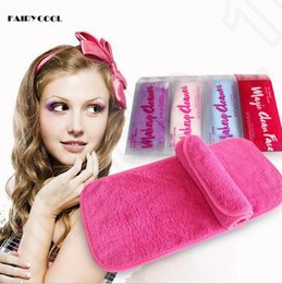Wholesale Fairycool make up erase cleaner towel magic Remover Face Polyester Face Eraser Towel Unloading Make up Wipe Face Scrub Cleaning cloth OOA225