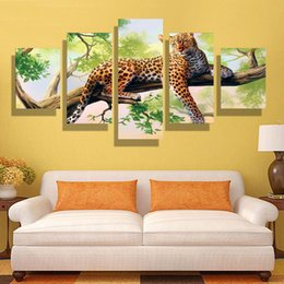 5p modern Home Furnishing HD picture Canvas Print art wall of the sitting room children room decoration theme -- Study on the tree