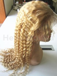 Wholesale Curly European Color 613 - Brazilian Human Hair Full Lace Wig 100% Human Curly Hair Lace Wigs Human Hair Wigs For Black Women Color in #613