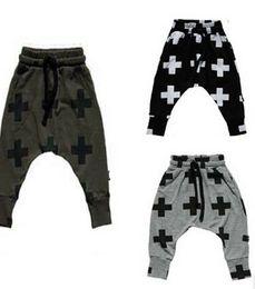 Kids Casual Pants Fall Boys Pants Nununu Cross Star Children Harem Pants For Girls Boy 2015 New Fashion Toddler Child Trousers Baby Clothes
