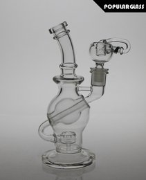 Wholesale 8 quot tall FC glass ball rigs FC recycler oil rigs ball glass water pipes smoking water bong Female joint size mm FC Ball8