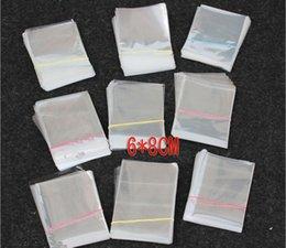 Pequeñas bolsas de plástico adhesivo transparente en venta-1000PCS 6x8cm opp autoadhesivas bolsas de plástico sellado claras transparentes para el collar / la joyería / regalo / vendas pequeña DIY embalaje del bolso del PE