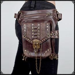 Personalized Steampunk Gothic female bag packet Messenger bag men and women travel mini bags waist leg cross shoulder bags