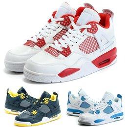 Wholesale Drop shipping Cheap New Air Retro IV Retro Alternate White Black Red Mens Basketball Shoes Sports shoes J J4 JIV Sneakers shoe