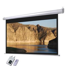 Wholesale Motorized Projector Screen quot Remote Control Black Matt Movie Projector