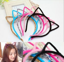 Kids Headbands Cat Ears Bunny Ears plastic with short combs Headband for girls children hair accessories hair band