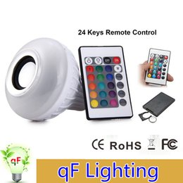 Wholesale High Power Smart RGB Wireless Bluetooth Speaker Bulb Music Playing W E27 AC110 V LED Bulb Light Lamp with Remote Control