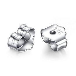 925 silver ear plugs Earring Back Men and women accessories Anti allergy Earrings Pure Tremella blocking ear cap silver jewelry