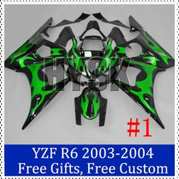 Wholesale Green black fairing kits for Yamaha YZF R6 ABS plastic Motorcycle Fairing YZF R6 Aftermarket motorcycle bodywork