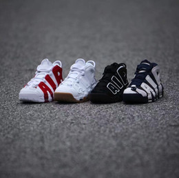 Wholesale high quality with shoes box AIR More Uptempo Basketball Shoes woman man Air More Uptempo OG Training Shoes cheap air Scottie Pippen sneakers