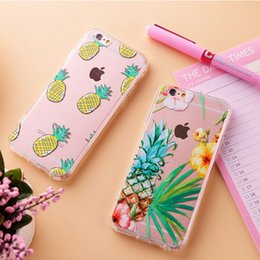 Wholesale Coque for iPhone Plus Case Fruit Pineapple Painted Soft TPU Fundas For iPhone S Plus iPhone Cases Silicone Phone Cases Cover