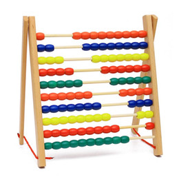Wholesale Baby Toys Montessori Math Toy Row Abacus Frame Wooden Toys Children Educational Gift