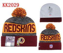 Wholesale Washington Beanies Winter High Quality Beanie For Men Redskins beanie American Football Women Skull Caps Skullies Knit Cotton Hats