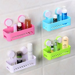 Wholesale Sucker bathroom shelf Wall shelf placement rectangle Household utility