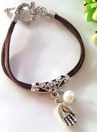 2016 New Fashion Romance Retro style Metal buddha Leather Bracelet for statement women jewelry party gift