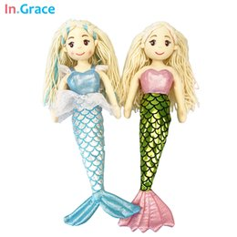 Wholesale princess style mermaid dolls high quality stuffed doll colors cm best gift toys for kids girls dream blue beauty cloth doll
