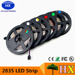 Wholesale SMD RGB LED Strip light LEDs M New Year String Ribbon lamp More Brighter than Lower Price Tape