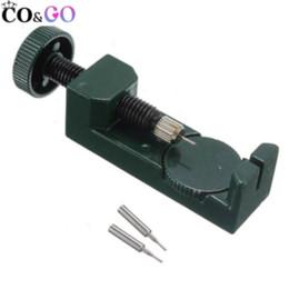 Regarder des pièces de réparation à vendre-Vente en gros-1pc Couleur Verte Metal Link Pin Remover Adjuster Watch Bracelet Bandes Bracelet Pièces Outil De Réparation