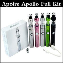 Wholesale Newest Apoire apollo full kit huge vapor e cigarette W apollo sub battery mAh with ml apoire tank vs Subvod mega topbox