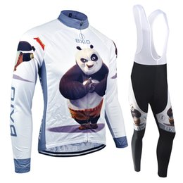 Wholesale BXIO Panda Heroes Cycling Jerseys Long Sleeve Suit Divided Into Winter Non winter Thermal Fleece And Long Mesh Material Cycle Jerseys BX
