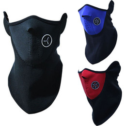 Wholesale Neoprene Neck Warm Balaclavas Half Face Mask Outdoor Cycling Motorcycle Ski Snowboard Veil Lightweight Winter Mask
