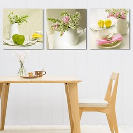 Free shipping 3 Pieces no frame Home decoration Canvas Prints Apple Spoon tree fish Lotus leaf chinese characters balcony flower peony
