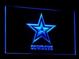 Signes de cow-boy en Ligne-B039 Dallas Cowboys LED Neon Sign Bar Decor bière Livraison gratuite Dropshipping 7 couleurs à choisir