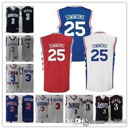 Wholesale New arrival er er Ben Simmons Allen Iverson New Material Rev Embroidery Logo Sixersnessings