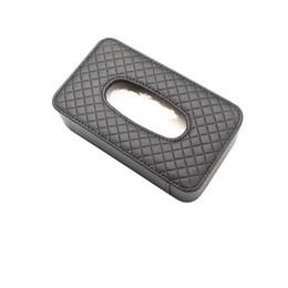 Wholesale Exquisite Car Sun Visor Faux Leather Tissue Box Paper Towel Napkin Case Cover Color Black Beige Brown