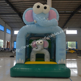 2016 AOQI high quality inflatable bouncer commercial inflatable castle bouncer elephant inflatable jumping bouncy castle for kids