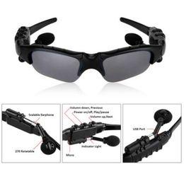 DHL 10Pcs Lot Wireless Autobike Bluetooth Glasses Stereo MP3 Sun Glasses Headset Headphone Handfree Cellular Phone