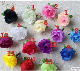 100pcs a set Rose Artificial Silk Flower Heads Wedding decoration Craft optional color