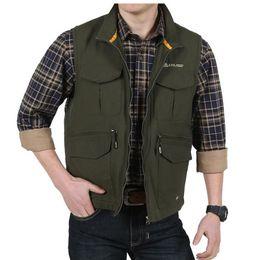 Wholesale Photography Zipper Shooting Vest Causal Quick drying Mesh Waistcoat Pockets Jacket Travels Vest Tops
