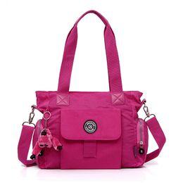 HandBags New Korean Version Of Portable Lightweight waterproOf Nylon Cloth Color Shoulder Messenger Bag Sports Bag 159