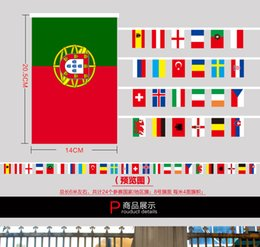 Wholesale Strong euro France string meters flag football string flag football fan bar atmosphere decoration supplies