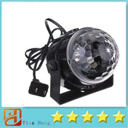 Wholesale Mini RGB LED Crystal Magic Ball Stage Effect Lighting Lamp Party Disco Club DJ Bar Light Show V US Plug