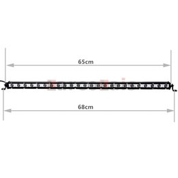 2pcs 26 Inch 72W LED Slim Light Bar Spot For Offroad Boat Truck Trailer SUV ATV