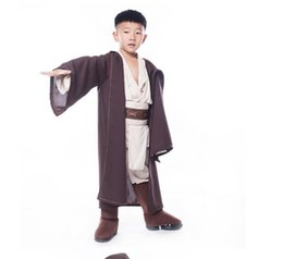 Wholesale Hot kids Boys Halloween Star Wars Deluxe Jedi Warrior Movie Character Cosplay Party Clothing Kids Fancy Halloween Purim Carnival Costumes