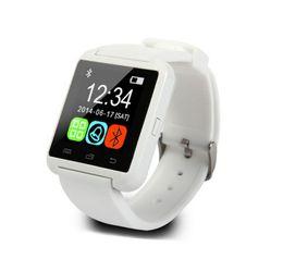 Bluetooth Smartwatch U8 reloj Smart Watch relojes para el iPhone 5 5S Samsung S4 S5 Nota 2 Nota 3 HTC de una pieza desde relojes de pulsera piezas proveedores