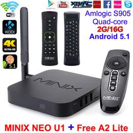 Wholesale MINIX NEO U1 TV Box A2 Lite Air Mouse K UHD Google TV Player Kodi Quad Core Amlogic S905 GB GB Android Dual Band Wi Fi Smart BOX